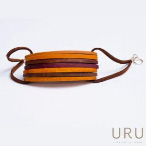 Pulsera madera colores joyas uru Colombia